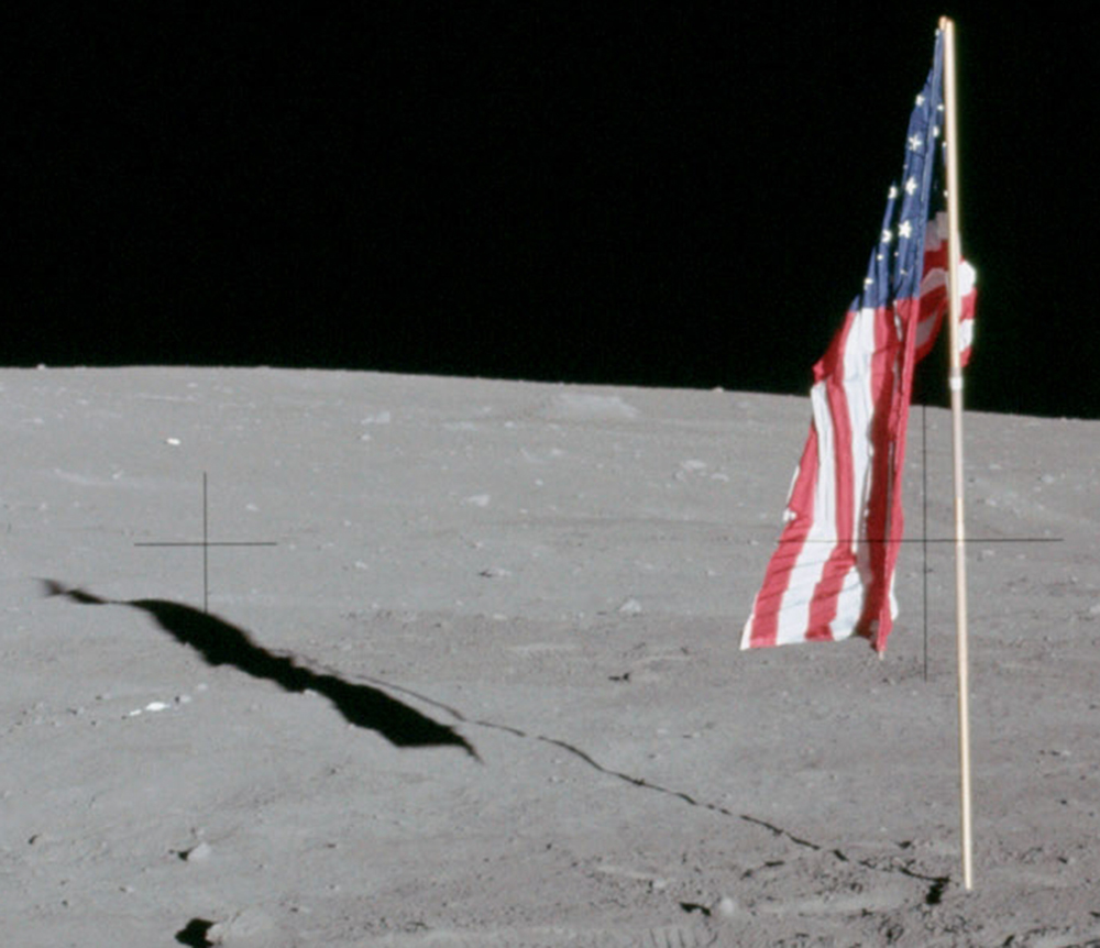 The US Flag from Apollo 12
