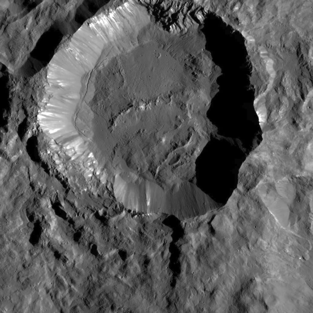 Crater on Dwarf Planet Ceres