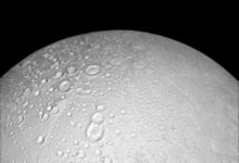Craters on Saturn's Moon, Enceladus