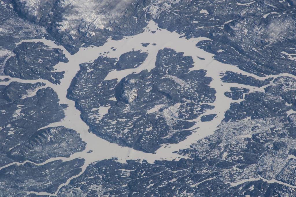 Manicouagan Crater in Quebec, Canada