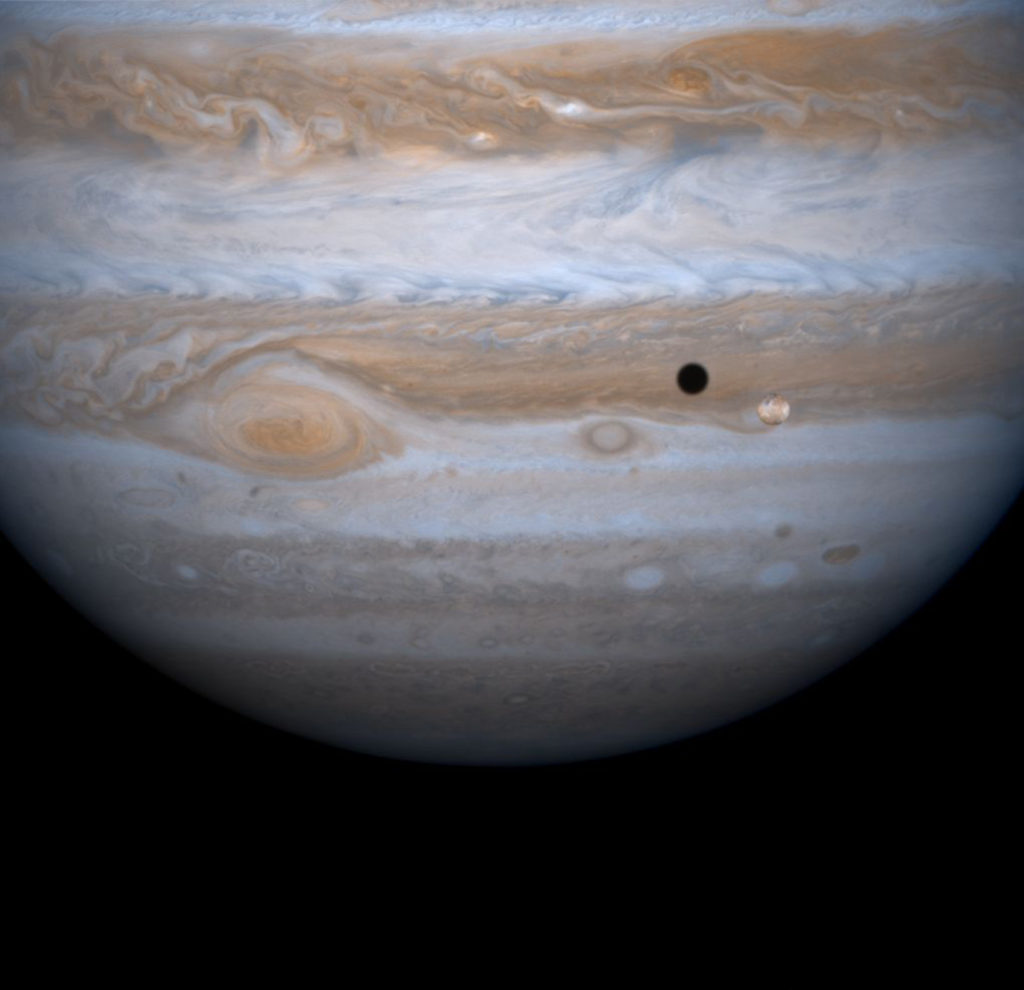 Io Orbiting Jupiter